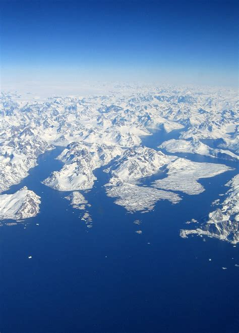 Greenland | Aerial view of Greenland seen from flight DL