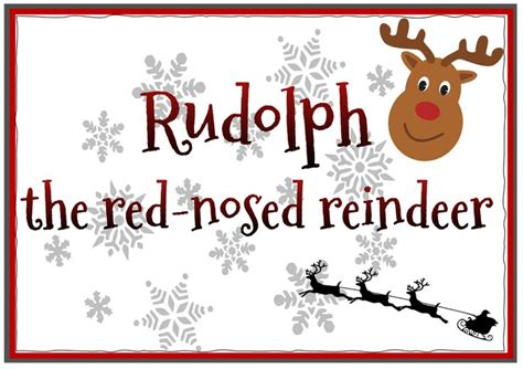 """Christmas Song-Listening """"Rudolph the red-nosed reindeer"""