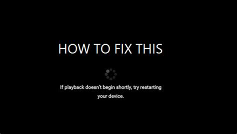 If playback doesn't begin shortly, try restarting your