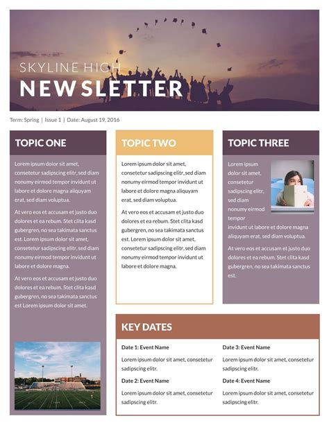 Where can you find a Newsletter Template?