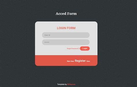 Acced Flat style Login Form Widget Template by w3layouts