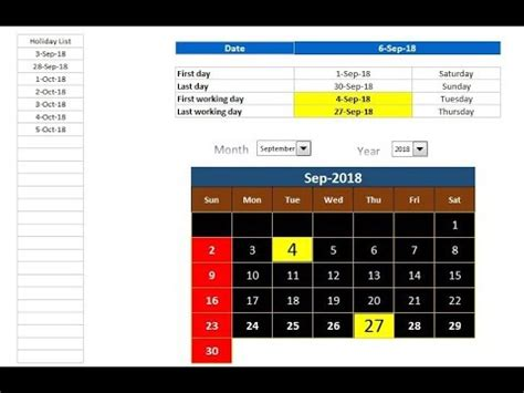 Excel Tips: How to get First and Last Working day of the