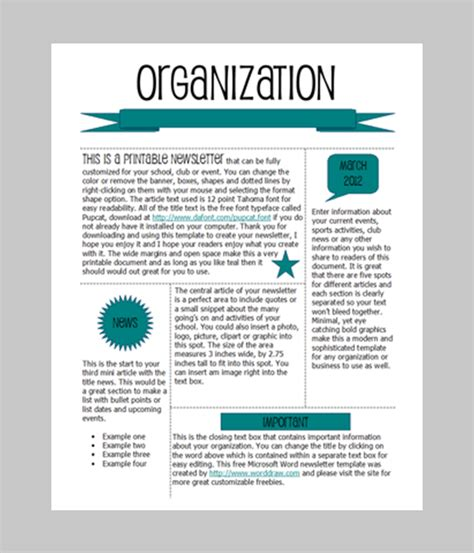 10 Best Word Document Newsletter Templates Free | Free