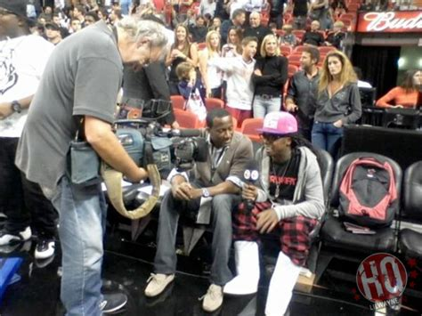 Pictures: Lil Wayne Watches Miami Heat vs