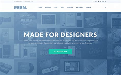 REEN - Made for Designers One/Multi Page   WrapBootstrap