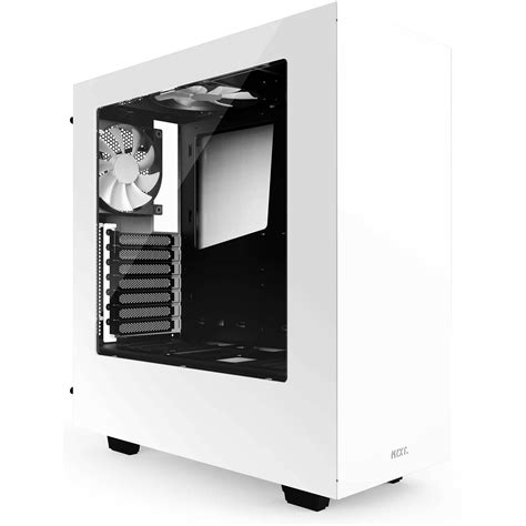 NZXT S340 Mid-Tower Chassis (White) CA-S340W-W1 B&H Photo