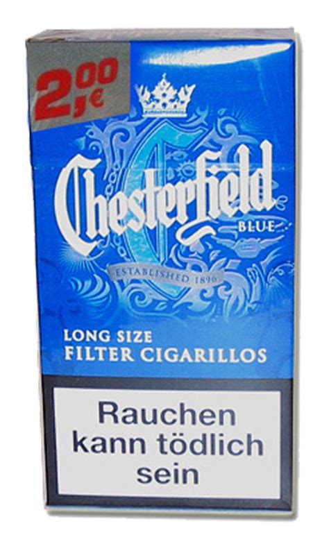 Chesterfield Blue Long Size Filter Cigarillos (Zigarillos