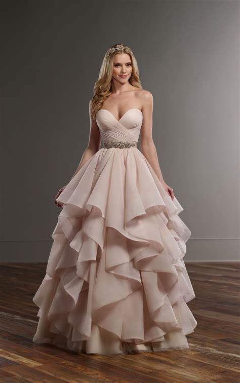 Ruched Corset Tulle Skirt Wedding Separates   Martina Liana