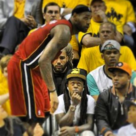 Lil Wayne Attends Indiana Pacers vs